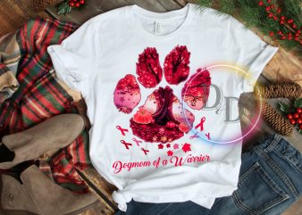Dogmom fighting Breast cancer awareness T shirt design