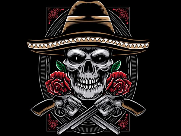 Cavaleras Mexicano t shirt design for purchase