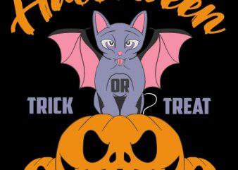 Catybat Halloween 2019 buy t shirt design for commercial use