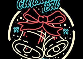 christmas bell tshirt design