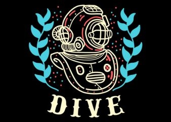 dive vector t-shirt design