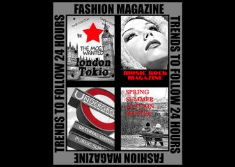 Fashion Magazine graphic t-shirt design