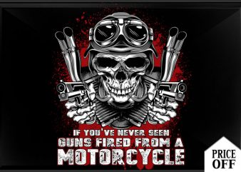 gun fired from motorcycle tshirt design for sale
