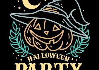 halloween party tshirt design