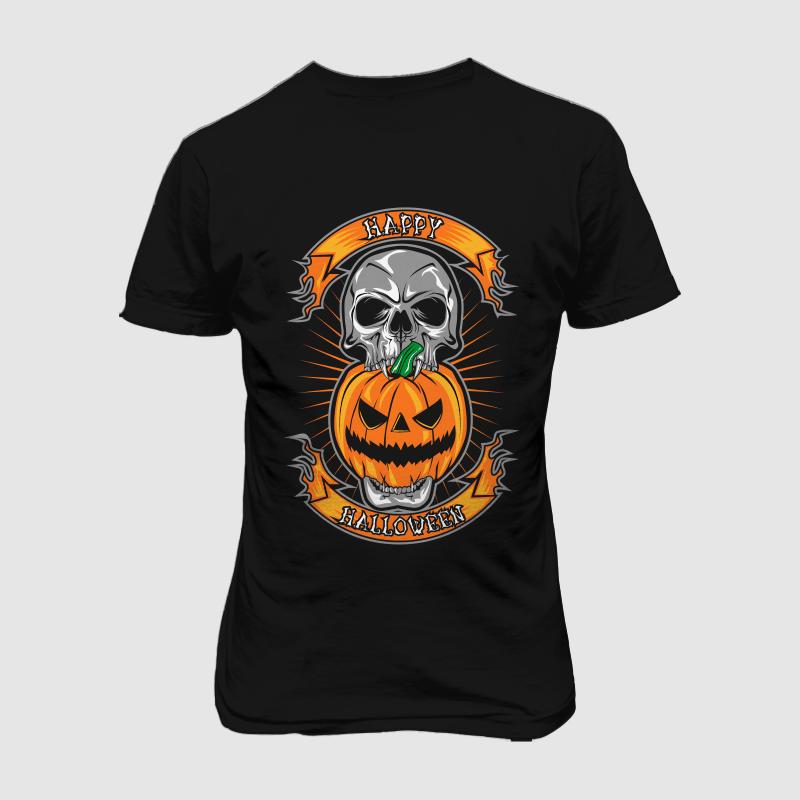 happy halloween t shirt designs for printful