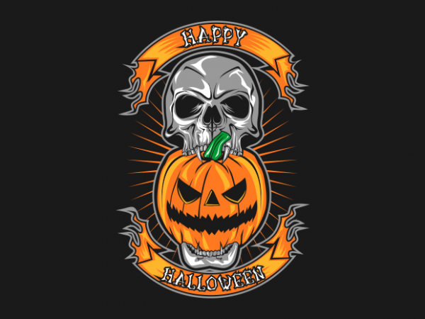 happy halloween buy t shirt design for commercial use