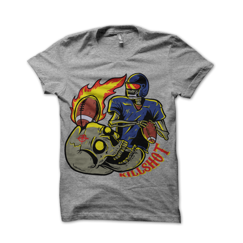 killshot t shirt design png