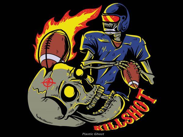 killshot t shirt vector art