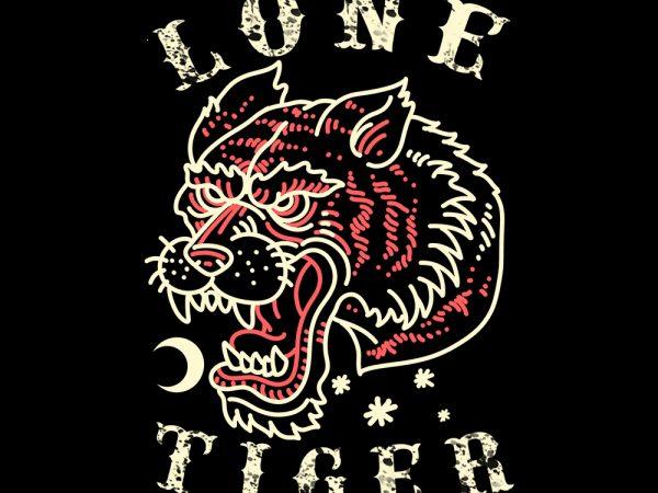 lone tiger tshirt design