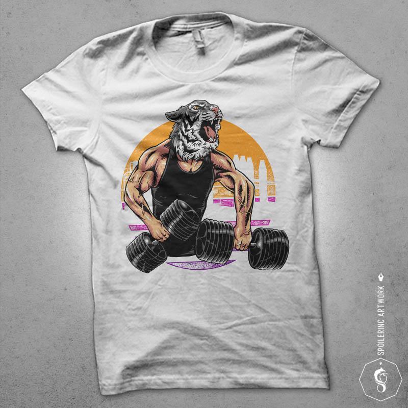tiger gym Graphic t-shirt design buy t shirt design