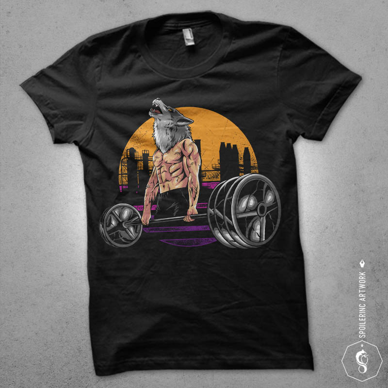 wolf gym Graphic t-shirt design buy t shirt design