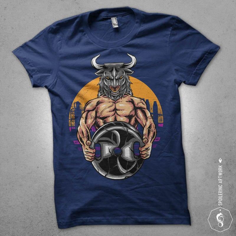 bulls gym Graphic t-shirt design buy t shirt designs artwork