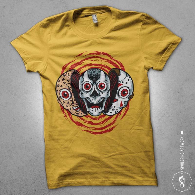 double killer Graphic t-shirt design t shirt designs for merch teespring and printful