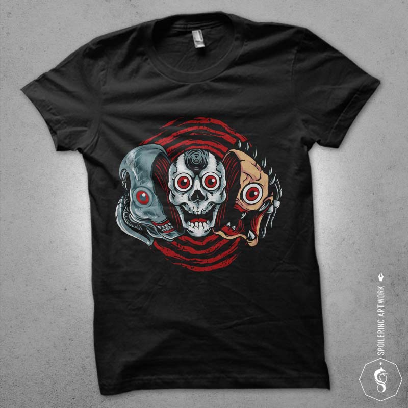 double slasher Graphic t-shirt design t shirt designs for merch teespring and printful