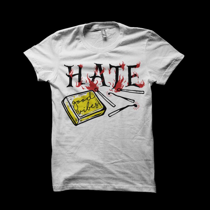 no hate buy tshirt design