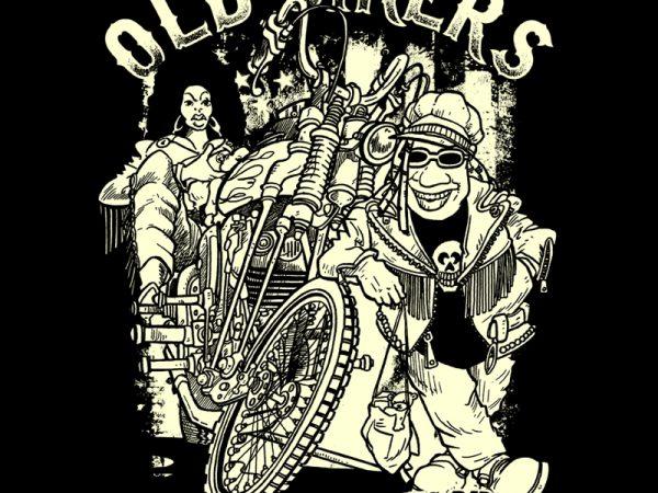old bikers shirt design png
