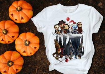 Halloween character squad T shirt costume