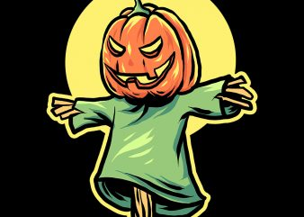 vector scarecrow vector t-shirt design