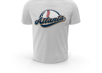 ATLANTA BASEBALL t shirt vector