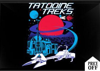 Tatooine treks t shirt designs for sale