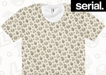 Ye Olde Coin All-Over T-shirt Design