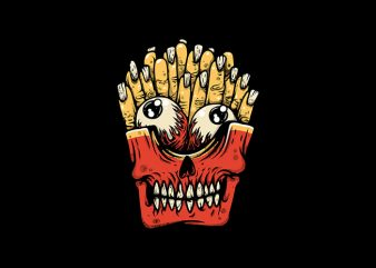 Zombie French Fries t shirt graphic design