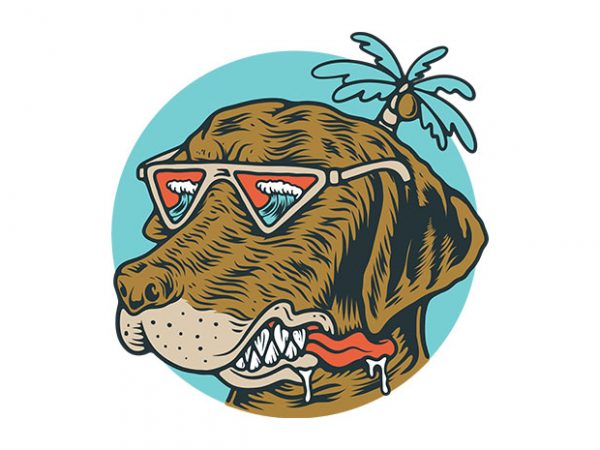 Chill Dog t shirt vector file