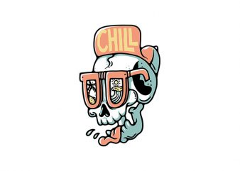 Chill Skull t shirt vector file