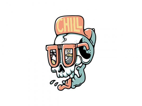 Chill Skull t shirt vector file