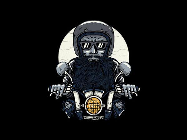 Old Biker buy t shirt design for commercial use