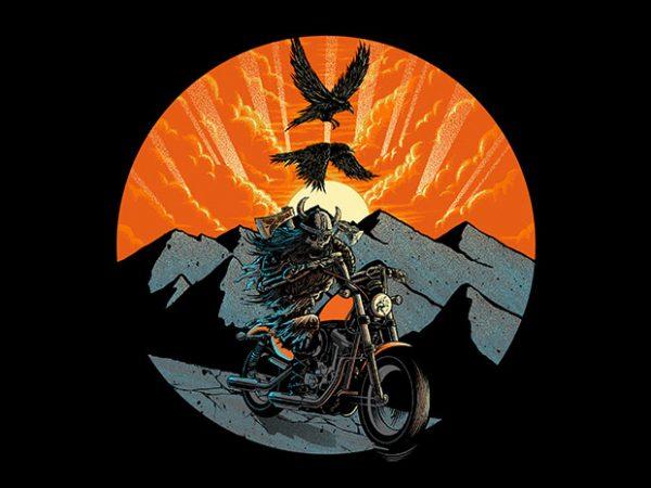 Viking Rider t shirt design for purchase