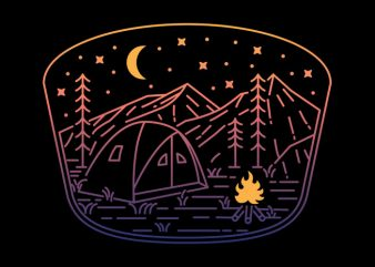 Camp Fire Line t shirt vector file