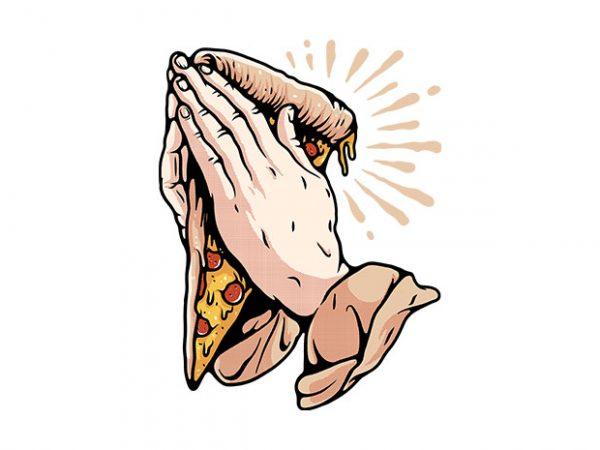 Pray for Pizza buy t shirt design artwork