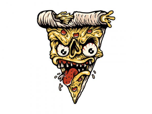 Pizza Monster t shirt illustration