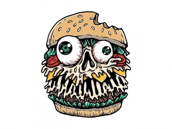 Hamburger Monster graphic t shirt