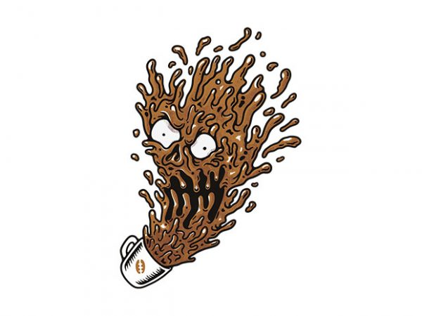 Coffee Monster t-shirt design for sale
