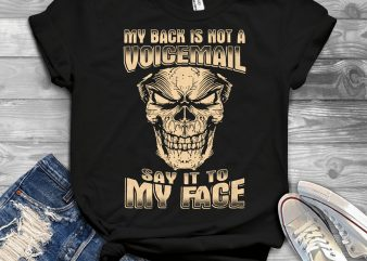 Funny Cool Skull Quote – 1050 design for t shirt