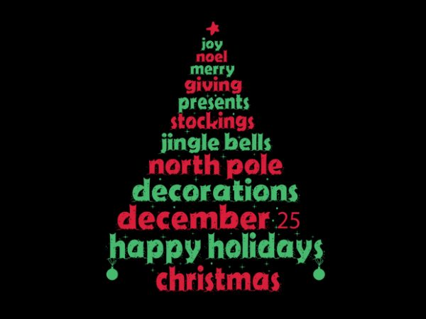 Christmas tee t shirt vector file