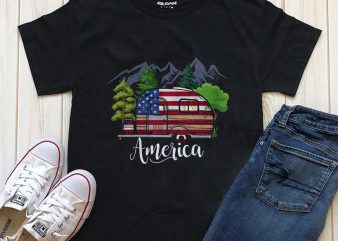Camping America buy t shirt design artwork