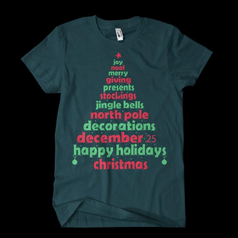 Christmas tee tshirt design for sale