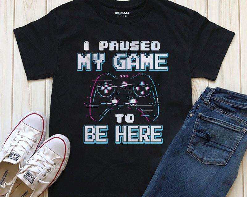 Paused Game t shirt designs for print on demand