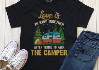 Park Camper t shirt design png