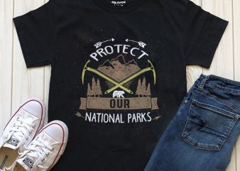 Protect our nation parks t shirt design template