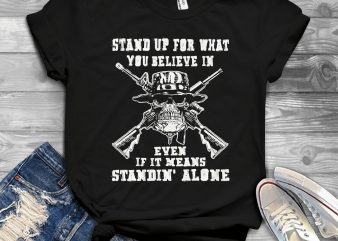 Funny Cool Skull Quote – 1154b t shirt design for sale