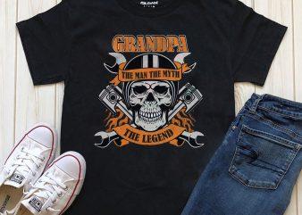 Biker Grandpa t shirt template