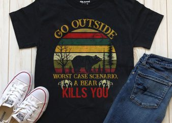Go Outside print ready t shirt design