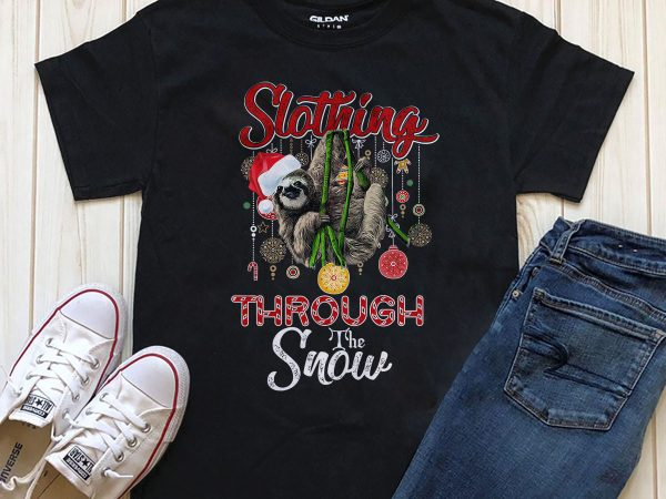 Slothing Through the Snow T-shirt Png download