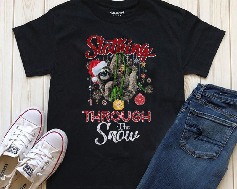 Slothing Through the Snow T-shirt Png download buy t shirt design