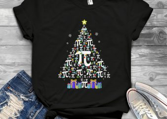 Pi Christmas Tree t-shirt design for commercial use
