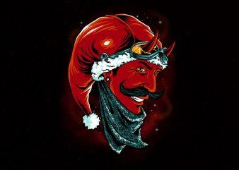 devil santa Graphic t-shirt design